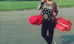 Наталья Могилевская впервые сыграла в гольф
