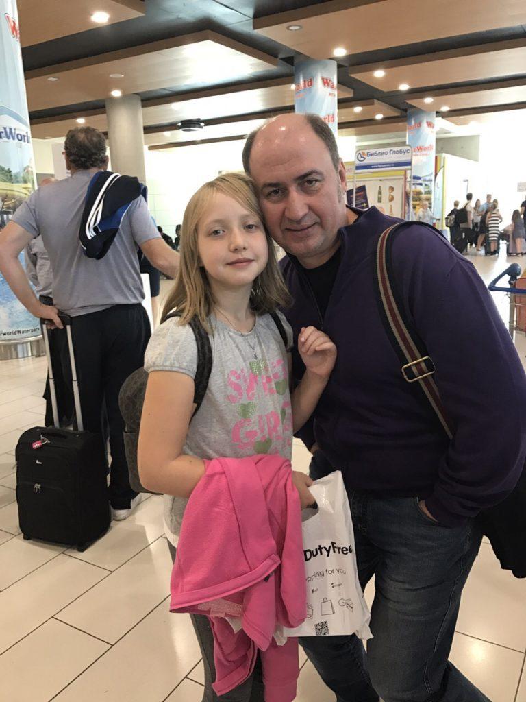 Александр Гулей с дочерью