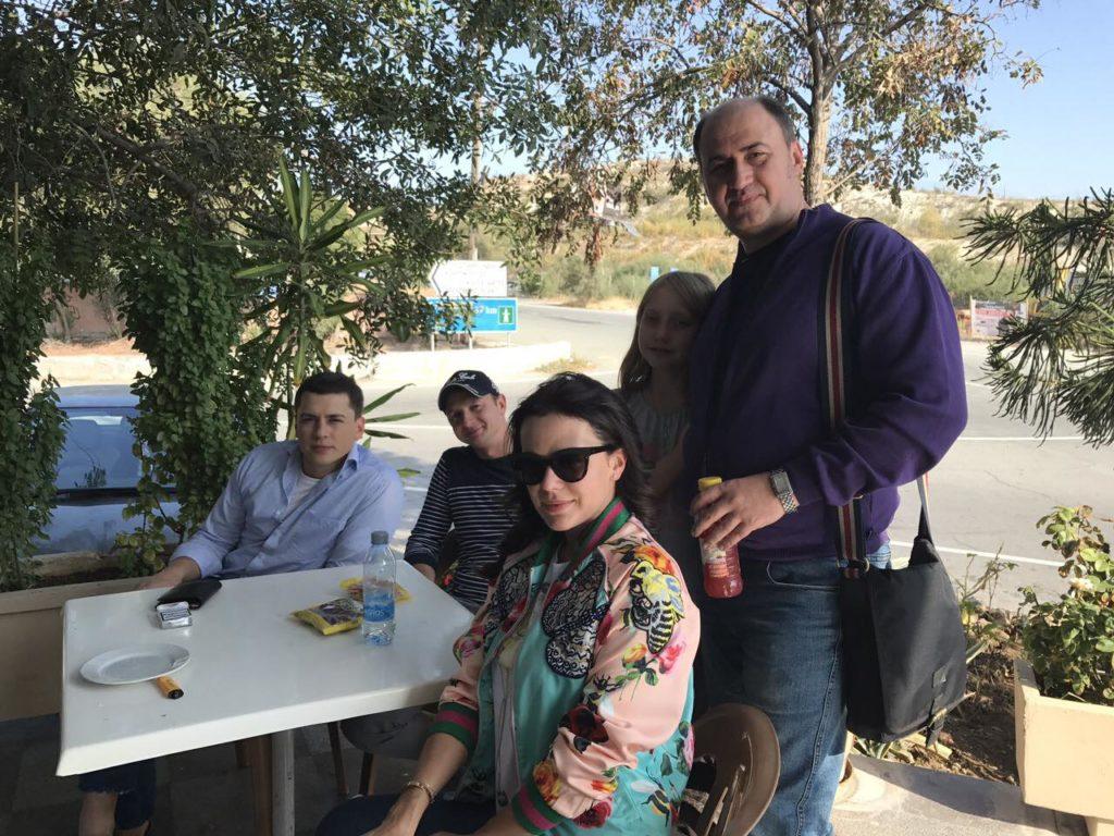 Александр Шепчинский, Игорь Федчик, Александр Гулей с дочерью, Мария Орлова