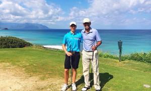 Сын премьер-министра Новой Зеландии  сыграл в гольф с Обамой