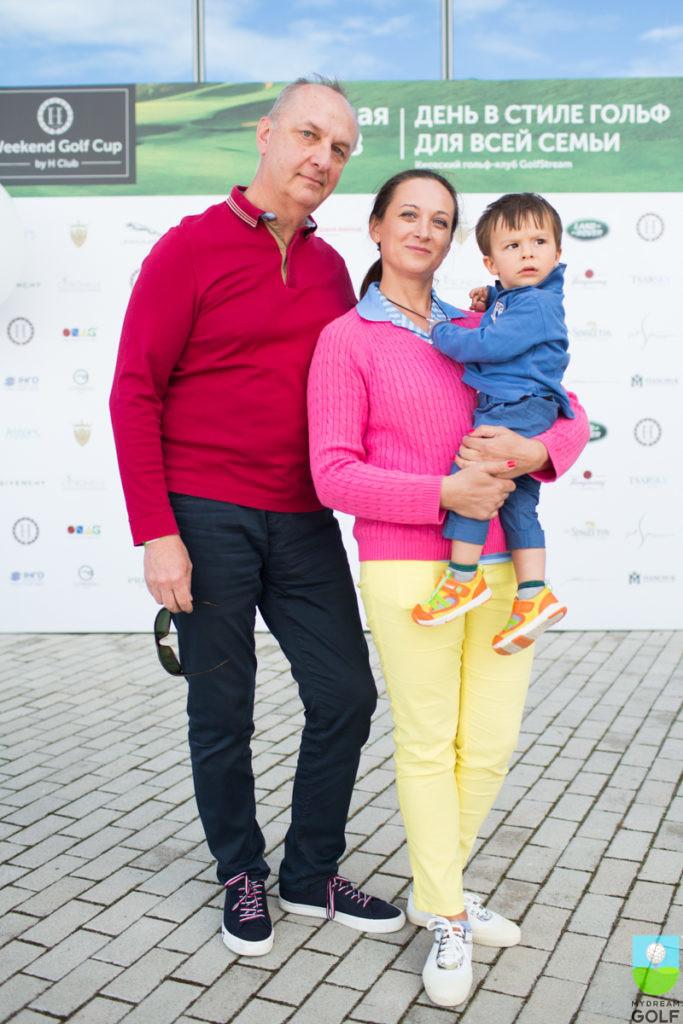 Люция Щекатурова с мужем и сыном